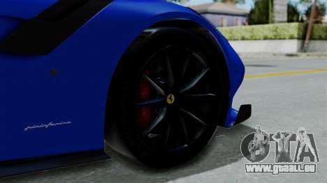 Ferrari F12 TDF 2016 für GTA San Andreas zurück linke Ansicht
