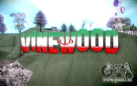 New Vinewood colors Iran flag für GTA San Andreas