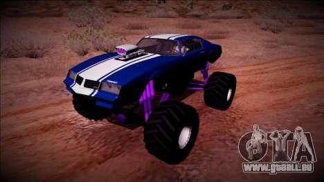GTA 5 Imponte Phoenix Monster Truck für GTA San Andreas Rückansicht