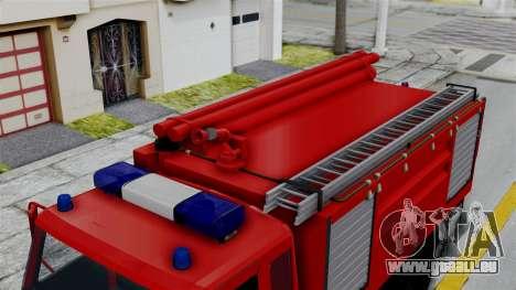 FAP Serbian Fire Truck pour GTA San Andreas sur la vue arrière gauche