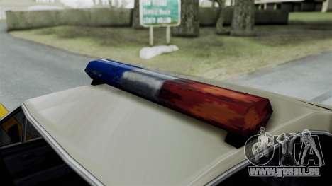 Police Clover pour GTA San Andreas vue de droite