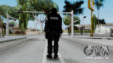 GIGN from Rainbow Six Siege für GTA San Andreas dritten Screenshot
