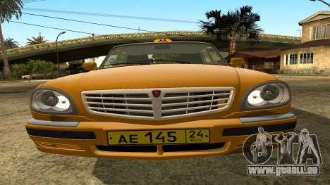 GAZ 31105 Volga Taxi FIV pour GTA San Andreas vue de côté
