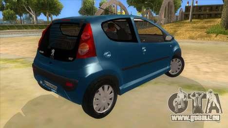 2005 Peugeot 107 V2 für GTA San Andreas rechten Ansicht