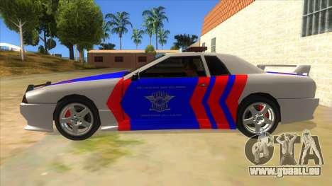 Elegy NR32 Police Edition White Highway pour GTA San Andreas laissé vue