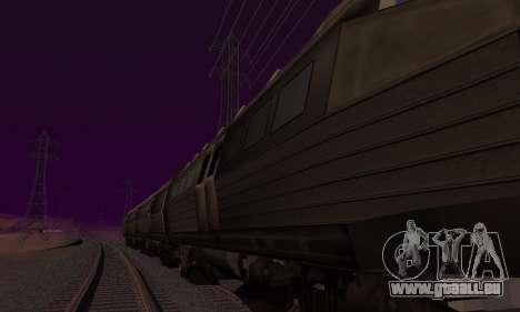 Batman Begins Monorail Train v1 pour GTA San Andreas sur la vue arrière gauche