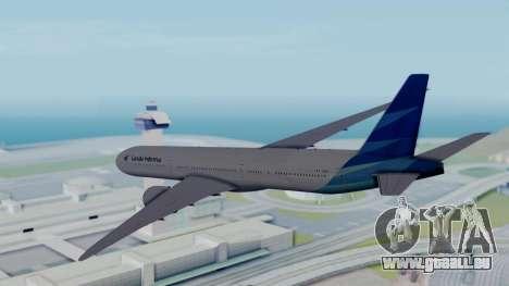 Boeing 777-9U3(X) Garuda Indonesia für GTA San Andreas rechten Ansicht