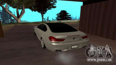BMW M6 pour GTA San Andreas laissé vue