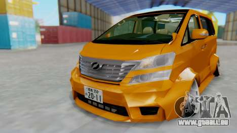 Toyota Vellfire S Class pour GTA San Andreas