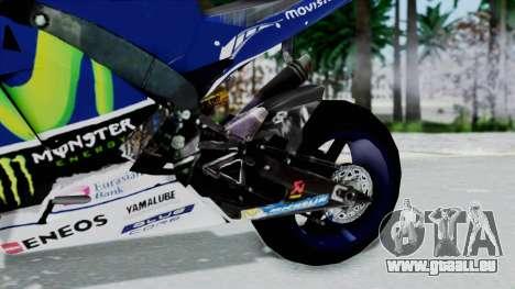 Yamaha YZR M1 2016 für GTA San Andreas rechten Ansicht