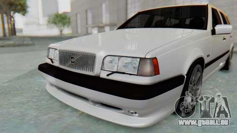 Volvo 850R 1997 Tunable pour GTA San Andreas vue de dessous