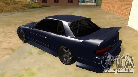 Nissan S13 Zenki pour GTA San Andreas sur la vue arrière gauche