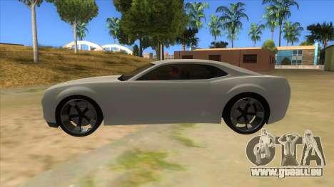 Chevrolet Camaro DOSH tuning MQ pour GTA San Andreas laissé vue