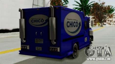 Chevrolet C30 Furgon Stylo Colombia pour GTA San Andreas laissé vue
