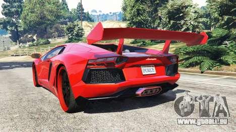 GTA 5 Lamborghini Aventador v1.0 arrière vue latérale gauche