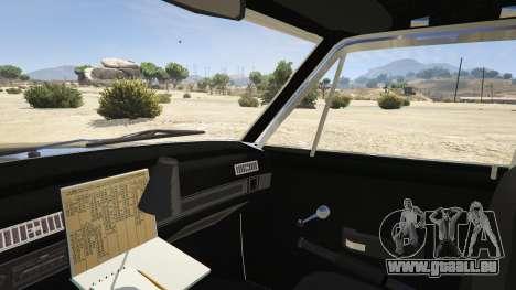GTA 5 1972 AMC Matador LAPD rechte Seitenansicht