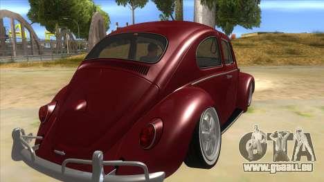 Volkswagen Beetle Aircooled V2 für GTA San Andreas rechten Ansicht