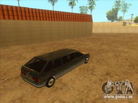 VAZ 2114 9-door pour GTA San Andreas vue arrière