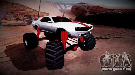 GTA 5 Bravado Gauntlet Monster Truck pour GTA San Andreas vue de dessus