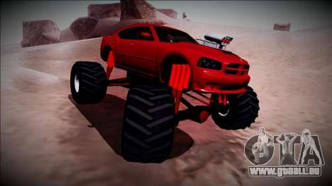 2006 Dodge Charger SRT8 Monster Truck pour GTA San Andreas vue de côté