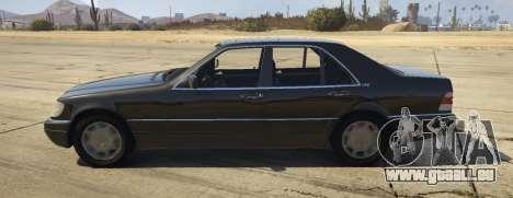GTA 5 Mercedes-Benz S600 (W140) [Replace] v1.1 vue latérale gauche