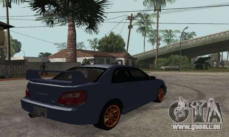 Subaru Impreza WRX STi Tunable pour GTA San Andreas laissé vue