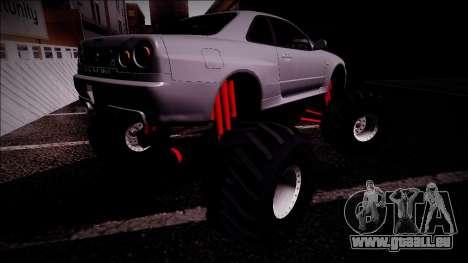 Nissan Skyline R34 Monster Truck für GTA San Andreas Innen