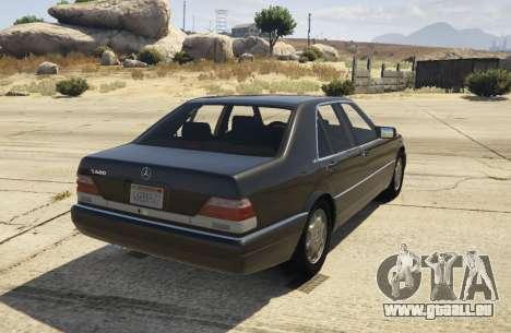 GTA 5 Mercedes-Benz S600 (W140) [Replace] v1.1 arrière vue latérale gauche