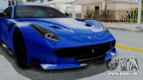 Ferrari F12 TDF 2016 pour GTA San Andreas vue intérieure