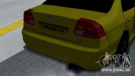 Honda Accord Vtec2 Stock für GTA San Andreas Rückansicht