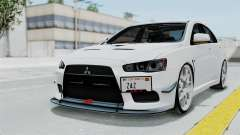 Mitsubishi Lancer Evolution X GSR Full Tunable für GTA San Andreas