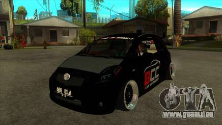 Toyota Yaris (Vitz) [Black Car Community] für GTA San Andreas