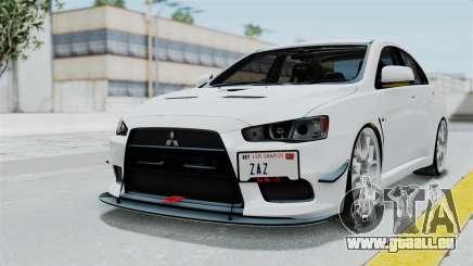 Mitsubishi Lancer Evolution X GSR Full Tunable pour GTA San Andreas