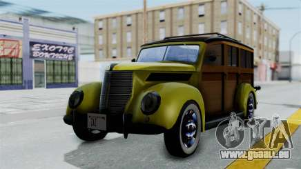 Ford V-8 De Luxe Station Wagon 1937 Mafia2 v2 für GTA San Andreas