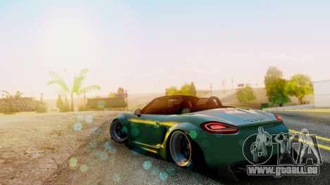 Porsche Boxster GTS LB Work pour GTA San Andreas laissé vue