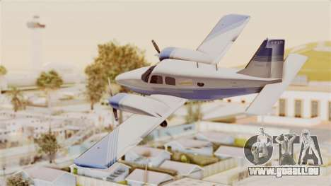 Piper Seneca II v2 pour GTA San Andreas laissé vue