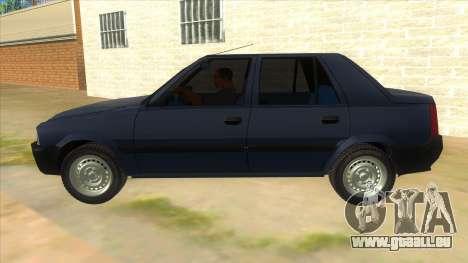 Dacia Solenza V2 pour GTA San Andreas laissé vue