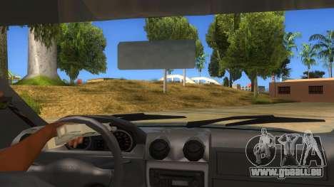 Dacia Logan V2 Final pour GTA San Andreas vue intérieure
