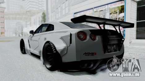 Nissan GT-R R35 2010 Liberty Walk pour GTA San Andreas laissé vue