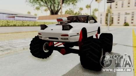Nissan 240SX Monster Truck pour GTA San Andreas vue de droite