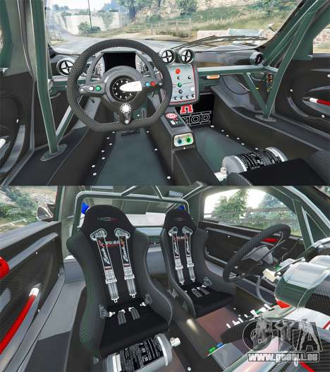 GTA 5 Pagani Zonda R arrière droit vue de côté