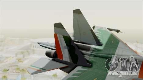 SU-30 MKI pour GTA San Andreas sur la vue arrière gauche