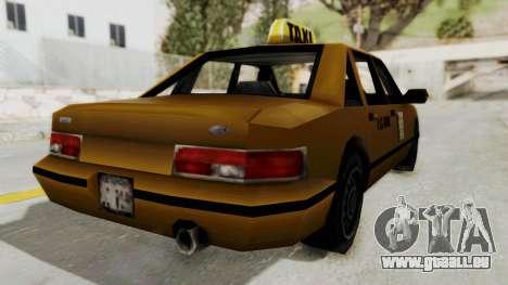GTA 3 - Taxi pour GTA San Andreas sur la vue arrière gauche