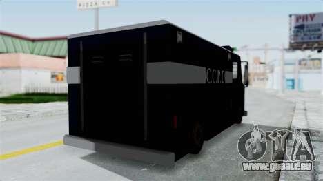 CCPD Boxville from Manhunt pour GTA San Andreas sur la vue arrière gauche