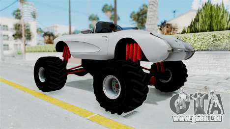 Chevrolet Corvette C1 1962 Monster Truck für GTA San Andreas linke Ansicht