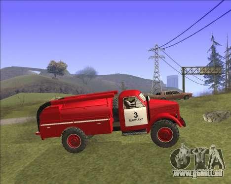 GAZ 63 moteur de Feu pour GTA San Andreas laissé vue