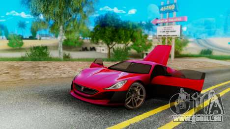 Rimac Concept One für GTA San Andreas linke Ansicht