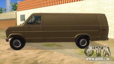 Ford E-250 Extended Van 1979 pour GTA San Andreas laissé vue