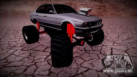 BMW M5 E34 Monster Truck für GTA San Andreas rechten Ansicht