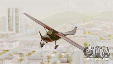 Ultralight Allegro 2000 pour GTA San Andreas sur la vue arrière gauche